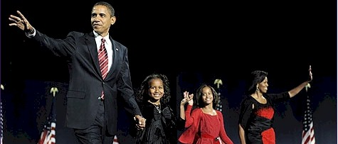 Barack Obama is coming up with his family!